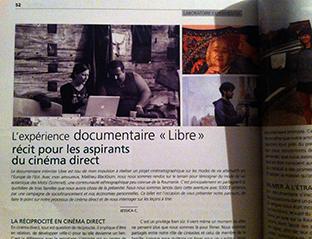 Texte %22l'expérience documentaire Libre%22
